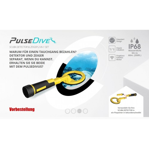 PulseDive SCUBA DETECTOR & Pointer 2-in-1 Set
