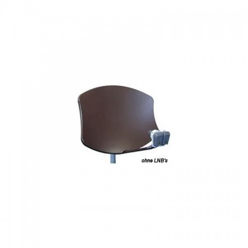 Visiosat Bisat G2 SMC-Parabolantenne für 2 LNB Braun