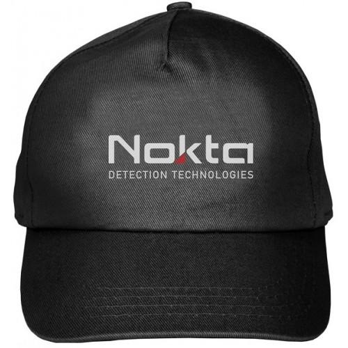 Baseball-Cap schwarz mit Logo Nokta