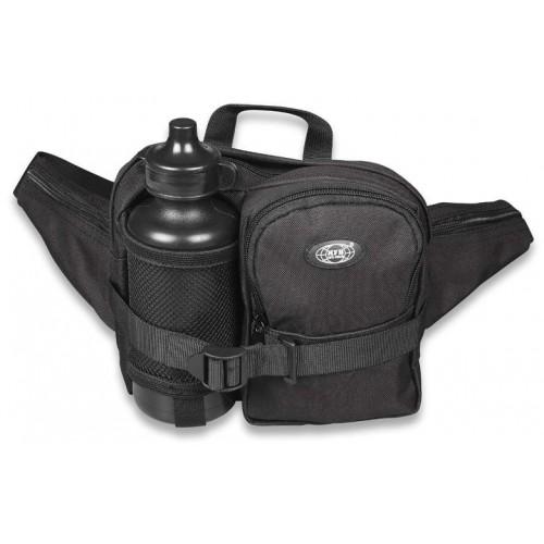 Fundtasche mit Trinkflasche schwarz